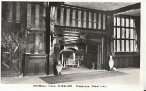 Cheshire Postcard - Bramall Hall - Great Hall - Real Photograph - Ref TZ5783