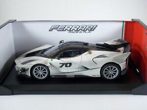 Burago Ferrari FXX-K Evo Sports Car. Die Cast 1:18 Scale. Translucent White. MIB