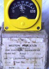 WW2 RAF Aircraft Oil Temperature Gauge 12v 6A/1477 - SPITFIRE, etc.
