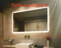 Specchio da bagno con Illuminazione LED su misura