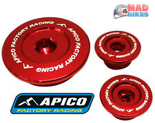 Apico Engine Inspection Plugs Honda CRF 250 R 2004-09 CRF 250 X 2004-17 Red