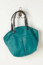 NWT ANTHROPOLOGIE CITY PICNIC LEATHER TURQUOISE HOBO HANDBAG by HOLDING HORSES