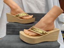 SKECHERS Cali Womens Platform Heel Sandals  Comfort Thick Sole Size UK 7 Euro 40