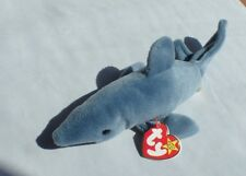 TY Beanie Baby Crunch the Blue Shark MWMT Birth date 1-13-1996 January Retired