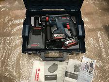 BOSCH GBH 18 V-EC SDS plus 3 function hammer drill inc 2x 4.0Ah Batts L-Boxx