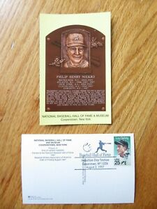 PHIL NIEKRO Induction HALL OF FAME Plaque August 3, 1997 CANCELED Stamp BRAVES