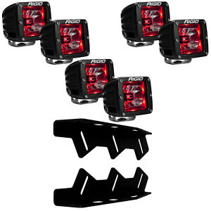 RIGID LED Fog Light Kit Radiance RED Back Light for 17-20 Ford F150 Raptor