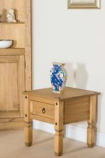 Quality 1 Drawer Lamp Side End Table Living Room Corona Mexican PIne Furniture