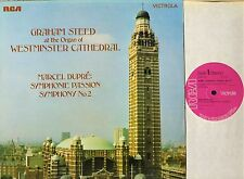 VICS 1573 GRAHAM STEED westminster cathedral organ dupre symphonies LP PS EX/EX