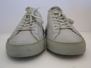 Men's Common Projects Achilles Light Gray Low Top Sneakers Size 42 EUR, 9 USA