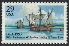 Scott 2805- Columbus Landing, 500th Anniversary- MNH 1993- 29c mint unused stamp