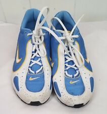 Niek Shox Shoes size 4T blue yellow white Sneakers Tennis youth girls