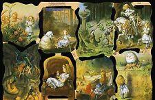# GLANZBILDER #  MLP 1885 Alice im Wunderland L.Carroll , wunderschön und rar !