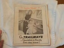 1950'S Vintage Trailways Booklet