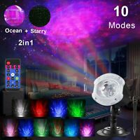 LED Galaxy Projector Starry Night Light Star Ocean Wave Sky Lamp Remote Kid Gift