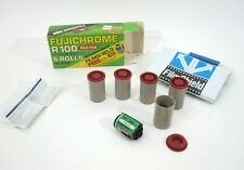 Vtg FUJI Fujichrome R100 35mm Photo Film Camera 5 Roll Box w/ Shield EXP 1977