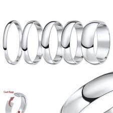 Titanium Wedding Ring Band Highly Polished Court Shaped Solid & Polished Unisex