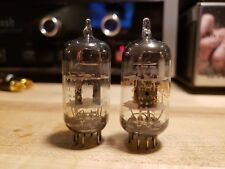 Pair (2) Ge 12At7 Grey Plate Halo Getter 84/96, 82/94 Tv-7 Tested