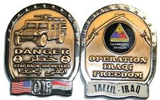 military coin tallil iraq 1st armored division old ironsides oif iraqi freedom