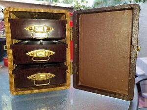 Vtg 1950s B&J Barnett Jaffe 3 Drawer Photo Slide Slides Bake Lite Storage Case