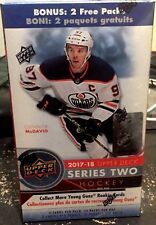 2017-18 Upper Deck Series 2 NHL Hockey Trading Cards 12pk Retail Blaster Box