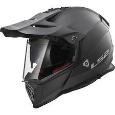 LS2 MX436 Pioneer Solid Matt Titanium Dual Sport Helmet Sun Visor Adventure Bike