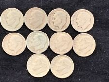 New listing [Lot of 10] Roosevelt Dimes 1946-1964 90% Silver
