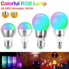E27 E14 RGB LED Lámpara de Etapa regulable de 16 Colores De Luz Cambiante + Control Remoto