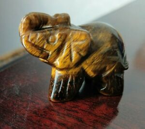 tigers eye lucky pocket elephant crystal healing protection
