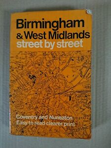 Birmingham & West Midlands Street by Street Geographia Street Map Book 1970's