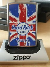 HARD ROCK CAFE LONDON GB ON A NEW STREET CHROME ZIPPO LIGHTER.NEW IN ZIPPO BOX.