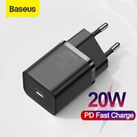 Baseus Type-C 20W EU Plug Wall Charger PD Charging Adapter For iPhone 12 Pro Max