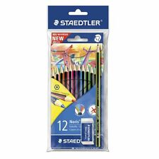 Staedtler Wopex Colour Pencils 12 Pack with Pencil + Eraser *Quantity Discounts*