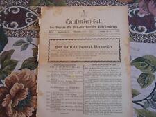 1893 ...Württemberg 6 / Reklame Stuttgart Biebrich / Nachruf Schmohl Nürtingen