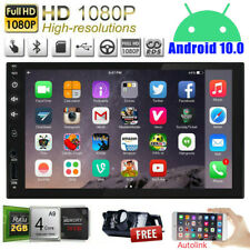 """7"""" Smart Android 10 4G WiFi Double 2DIN Car Radio Stereo MP5 Player GPS Camera"""