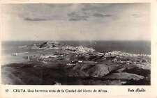 Ceuta Spain Birds Eye View Real Photo Antique Postcard J66000