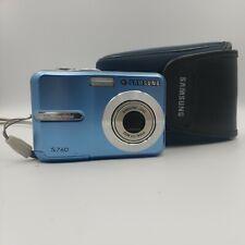 Samsung Digimax S760 7.2MP Digital Camera - Blue. With Case.