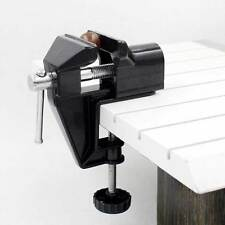 7in Clamp On Table Bench Vise Bench Clamp Aluminum Mini Jewelers Hobby Tool