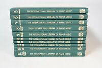 International Library Of Piano Music Hardcover (1968) , 10 Volumes 5-14 Great!