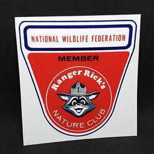 Ranger Rick Nature Club Vintage Style Decal / Vinyl Sticker