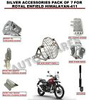 SILVER ACCESSORIES PACK OF 7 FOR ROYAL ENFIELD HIMALAYAN-411