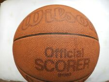 Wilson 1979 Official Scorer Leather Basketball with Original Box