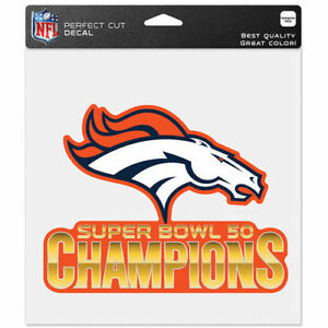 "Denver Broncos 2016 Super Bowl 50 Champions Perfect Cut Decal Sticker 8""x8"""