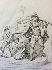 Bartolomeo PINELLI (1781-1835) Roma 1834 estampe Italie XIXe  Brigante famiglia