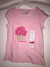 """NEW WT Jumping Beans Kid's Girl 4T Pink T Shirt W/ Cupcake """"Sweet Like Mommy"""""""