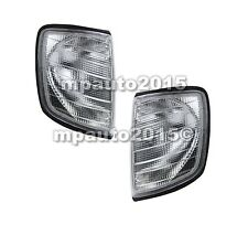 For MERCEDES W124 (E-Class) Front Corner Lights Turn Signal SMOKE PAIR L+R 85-96