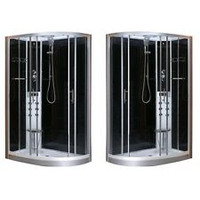 Cabina box doccia idromassaggio led 80x120 seggiolino versione dx o sx|sa