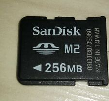 Genuine SanDisk M2 - 256MB Memory Card For Sony Ericsson, older Xperia, PSP GO