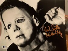 Beckett certified 8x10 photo Nick Castle Halloween Michael Myers Signed