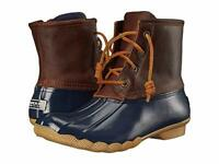 NEW SPERRY WOMNE'S SALTWATER DUCK BOOT - US 9 NAVY/TAN
